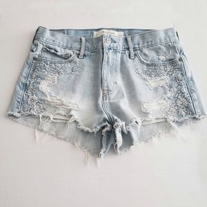 Abercrombie & Fitch embroidered cutoff jean  short